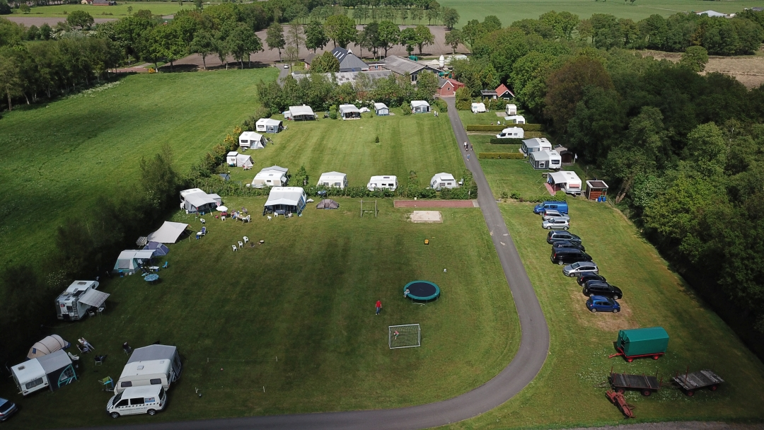 Luchtfoto van onze camping